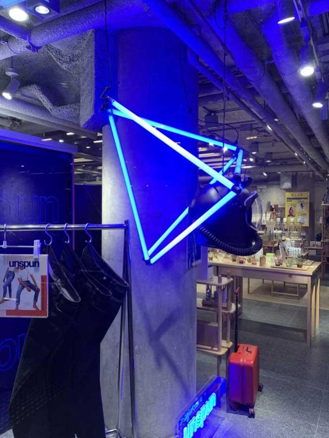 tube lumineux LED bleus