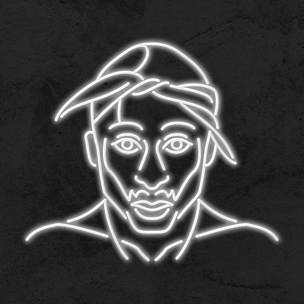 neon tupac led deco iconic la maison du neon