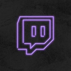 logo twitch neon led social media la maison du neon