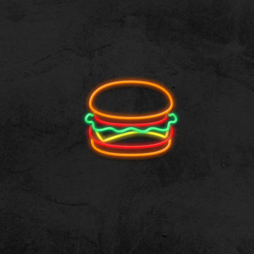 néon led burger