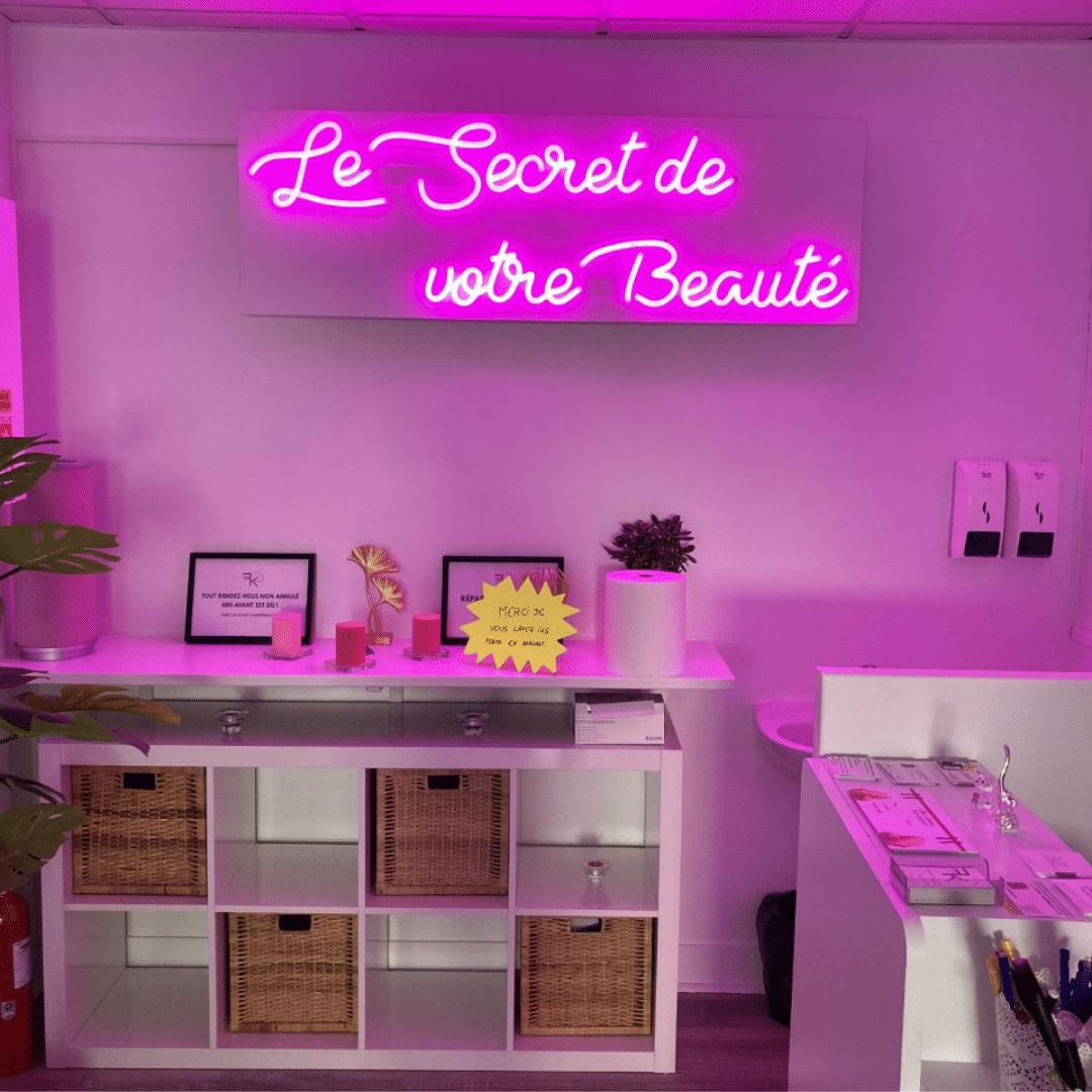 néon sur mesure salon de beauté LED la maison du néon