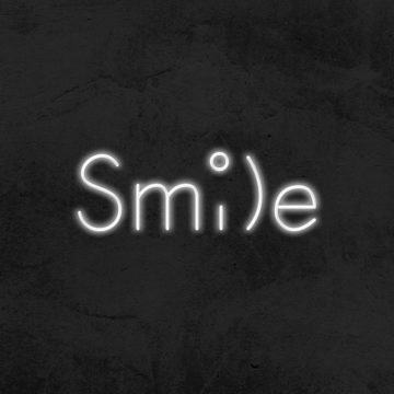 neon led smile