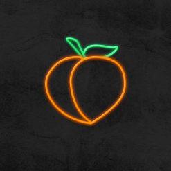 néon abricot led déco la maison du néon