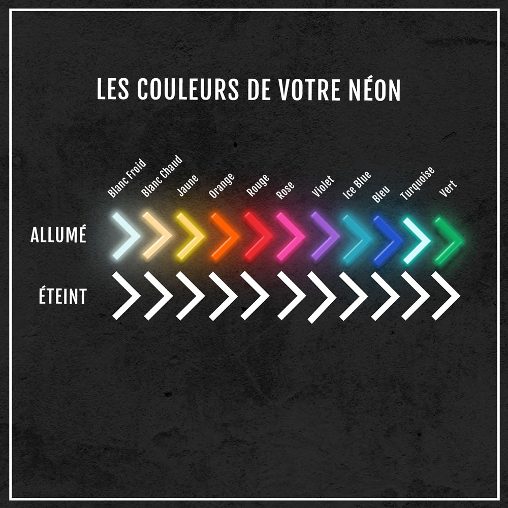 neon led couleurs