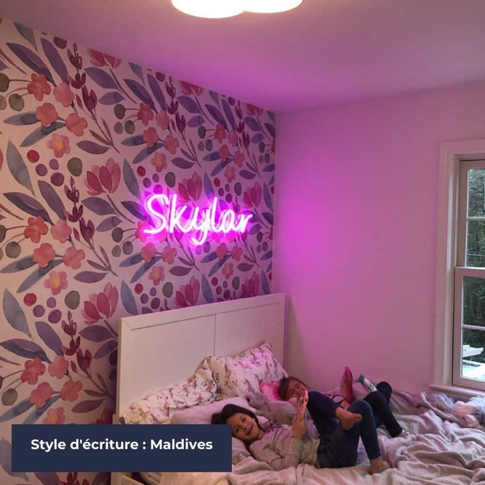 luminaire chambre d'enfant neon sur-mesure