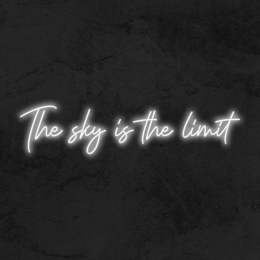 The sky is the limit neon led la maison du neon