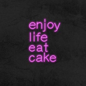 neon enjoy life eat cake boulangerie patisserie la maison du neon