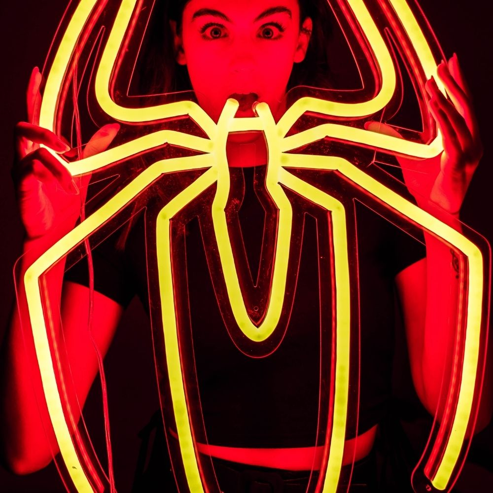 néon spider LED chambre enfant spiderman la maison du neon
