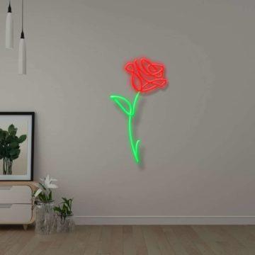 Néon Dessin fleur