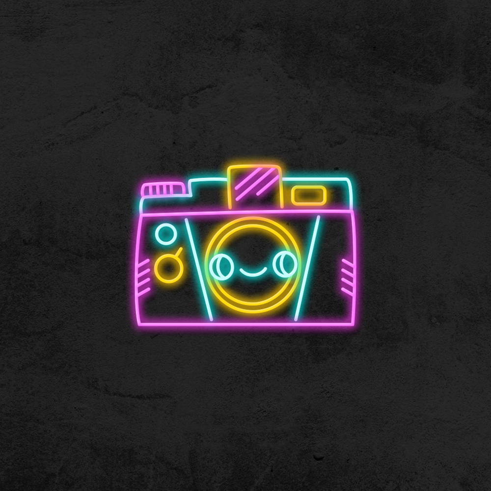 Néon vintage Magic Camera