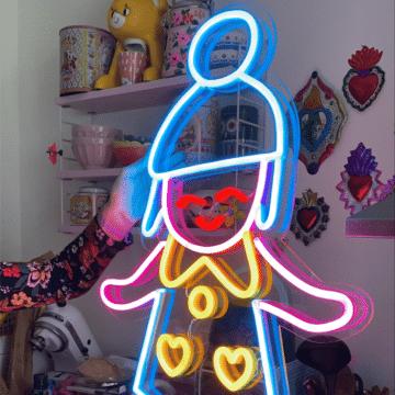 poulette magique neon allumé