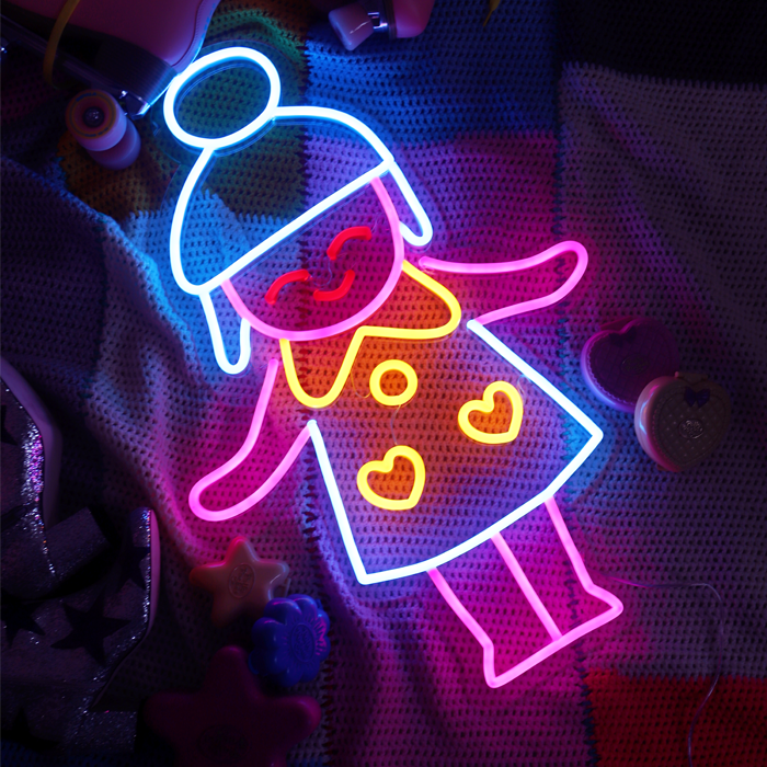 Polly neon decor allumé