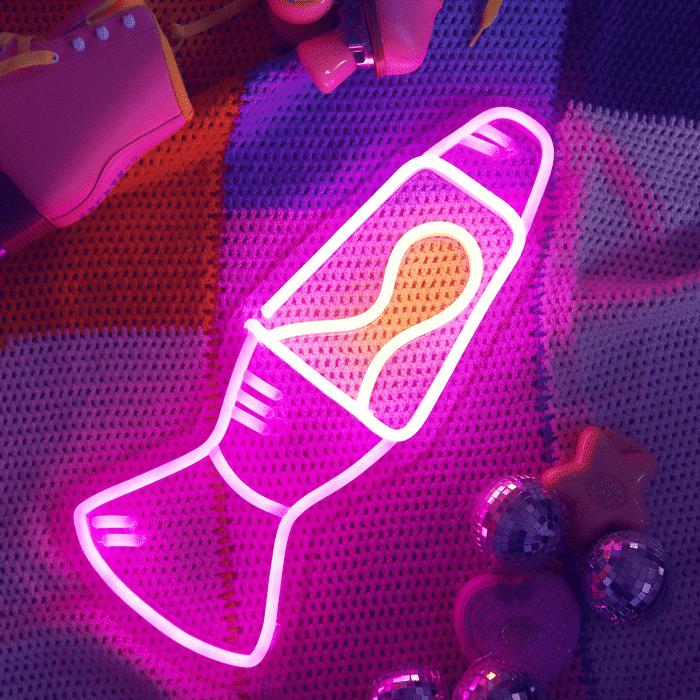 neon lava lamp