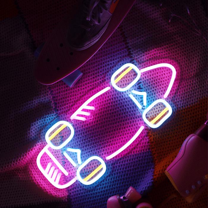 neon skate cruiser