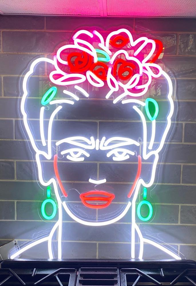 frida kahlo enseigne neon decoration